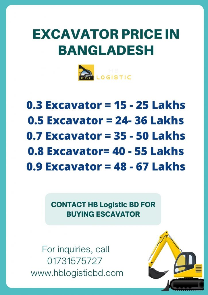 EXCAVATOR PRICE IN BANGLADESH